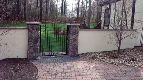 Wrought iron estate gates, custom iron security gates, ornamental iron entry gates, driveway entry gates, MA, RI