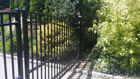 Custom iron security gates, ornamental wrought iron entry gates, iron estate gates, driveway entry gates, MA, RI