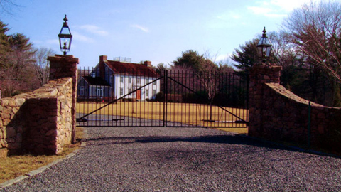 Custom iron security gates, ornamental wrought iron estate gates, entry gates, driveway gates, MA, RI