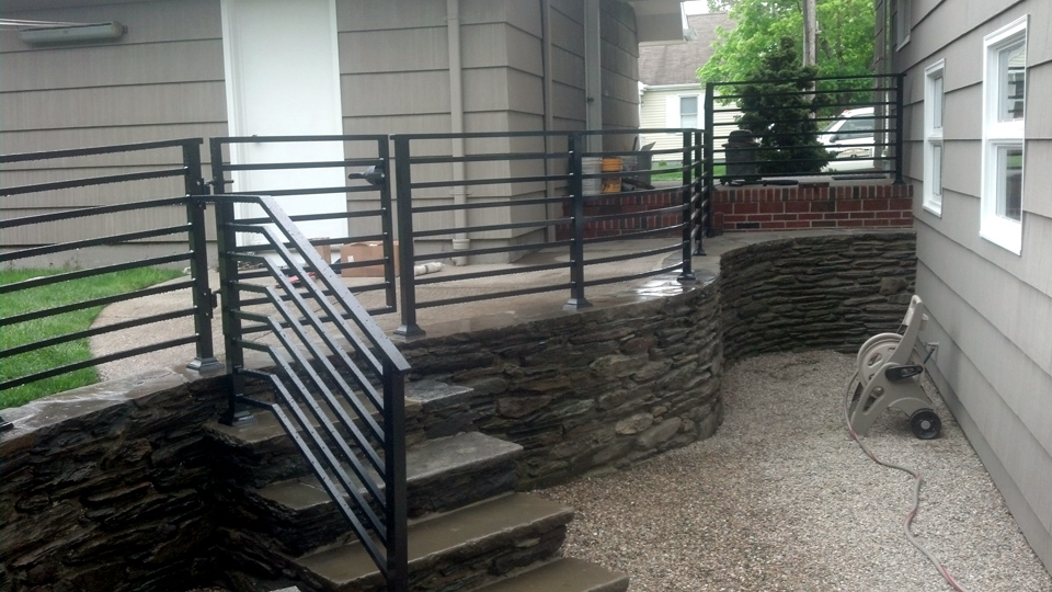 ... Custom Wrought Iron Hand Railings, MA, RI, Ornamental Exterior  Ironwork, Custom Iron ...