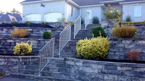 Custom wrought iron railings, MA, RI, ornamental exterior ironwork, custom iron balconies, hand railings