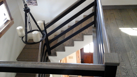 Interior railings, ornamental wrought iron rails, spiral staircases, iron hand rails, staircase railings, MA, RI