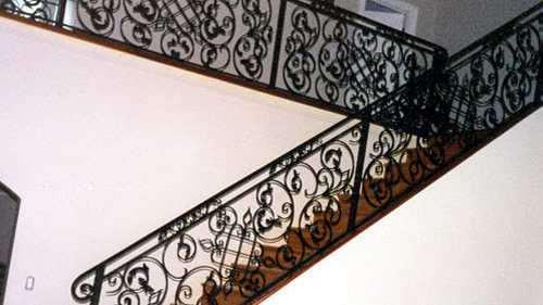 ... Staircase Ornamental Wrought Iron Rails, Interior Railings, Spiral  Staircases, Iron Hand Rails, Staircase Ornamental ...