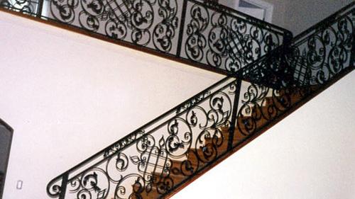 ... Staircase Ornamental Wrought Iron Rails, Interior Railings, Spiral  Staircases, Iron Hand Rails, Staircase Ornamental ...