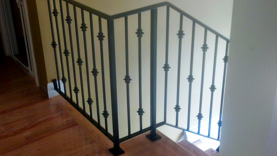 Staircase Ornamental Wrought Iron Rails Interior Railings Spiral Staircases Hand
