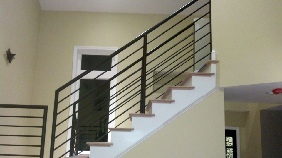 throughout ideas for stairs interior railing horizontal stair wrought indoor railings iron metal