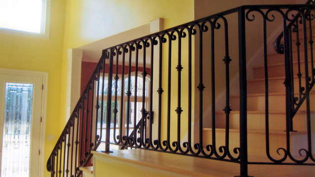 ... Driveway Ornamental Wrought Iron Rails, Interior Railings, Spiral  Staircases, Iron Hand Rails, Staircase