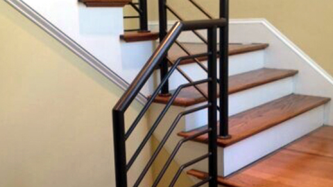 Ornamental wrought iron rails, interior railings, spiral staircases, iron hand rails, staircase railings, MA, RI